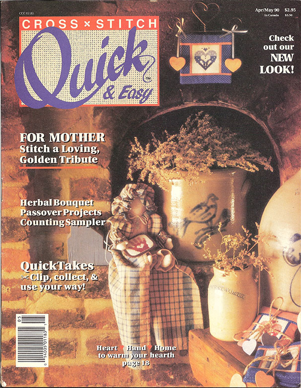 1990 Apr/May Cross Stitch Quick & Easy Magazine
