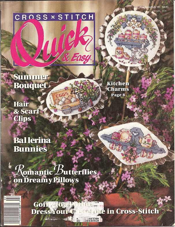 1990 Jun/Jul Cross Stitch Quick & Easy Magazine