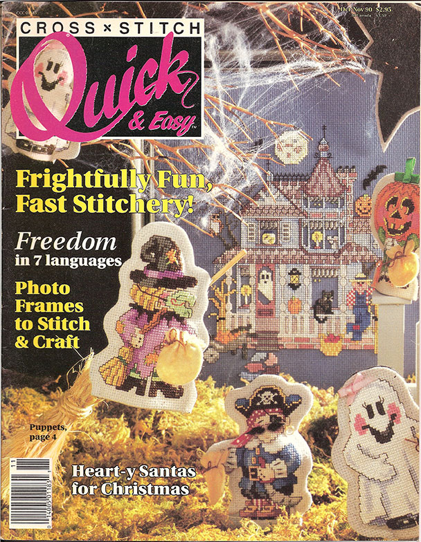 1990 Oct/Nov Cross Stitch Quick & Easy Magazine