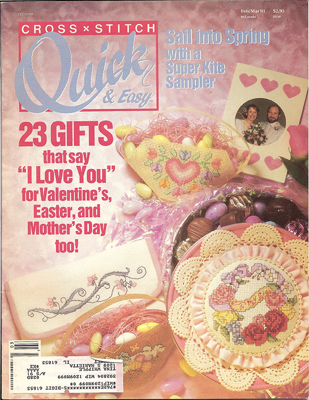 1991 Feb/Mar Cross Stitch Quick & Easy Magazine