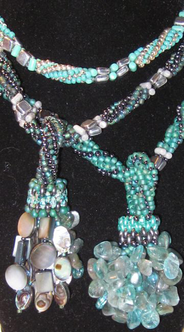 Barb's superduo, rulla and czechmate bundles necklaces