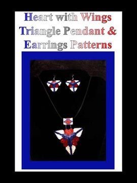 Heart with Wings Triangle Pendant and Earrings Set CHART ONLY