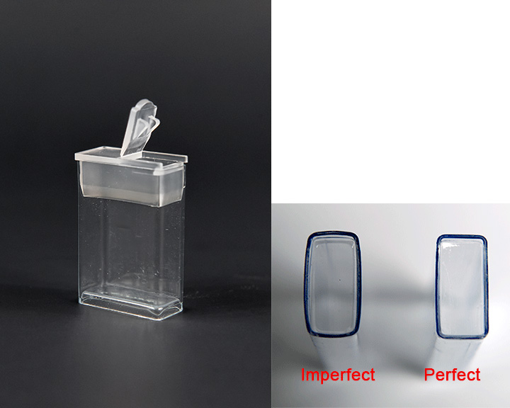 1-1/2 inch Clear Flip Top with Cap  (10 ea) Imperfect