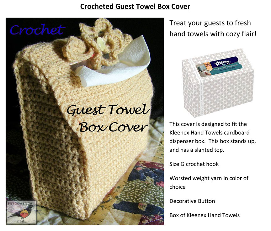 Crocheted Hand Towel Box Cover