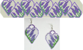 Lavender Hearts Bracelet & Earrings