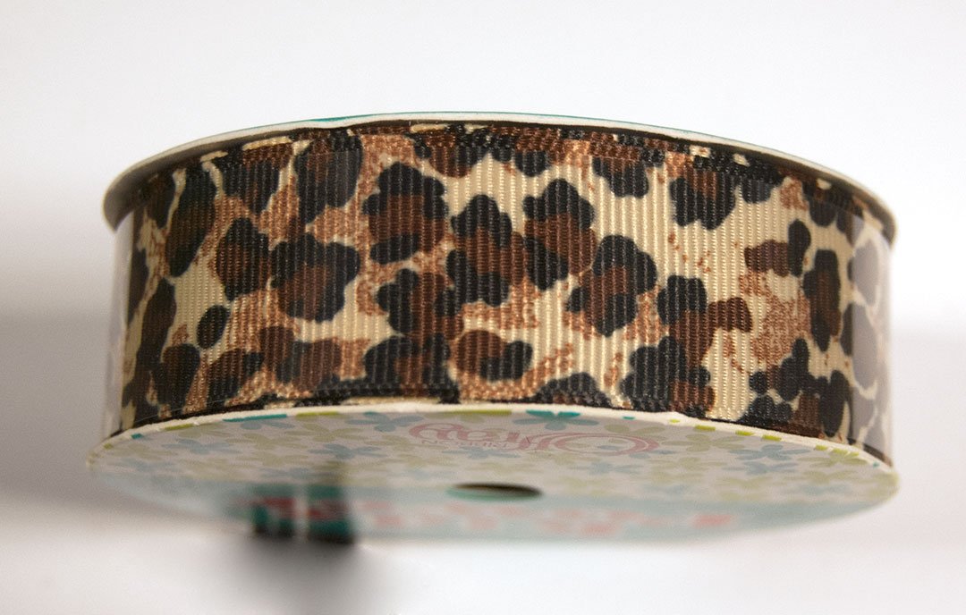 Offray Ribbon 7/8 in W (9 Feet), Animal Print, Grosgrain