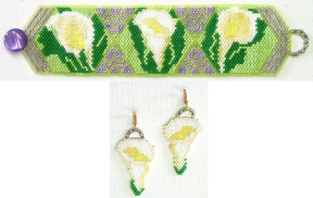 Calla Lilies for Easter Bracelet & Earrings