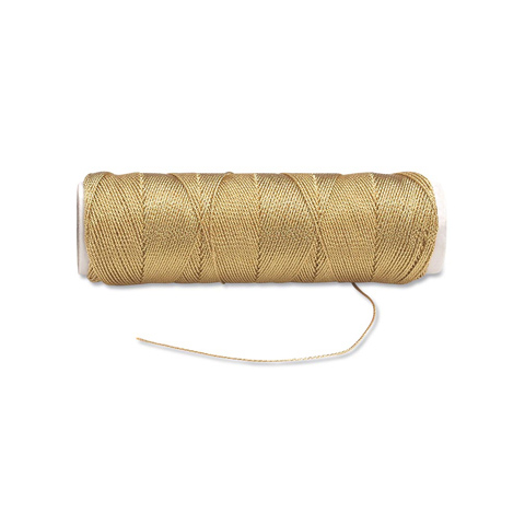 Lame Cord, 3-Ply, Metallic Gold, 50 yards
