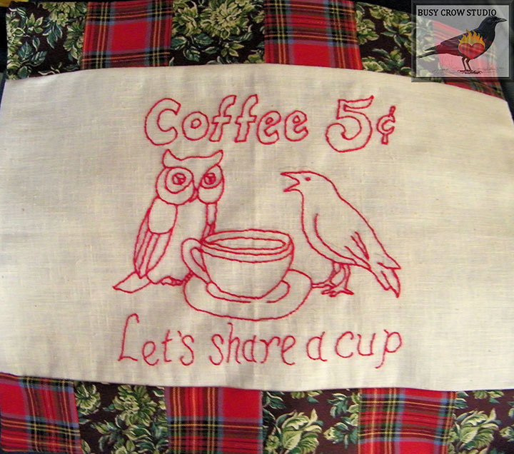 Let's Share Coffee Embroidery Design