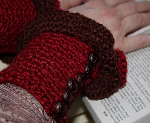 Ruffled Button Up Wrist Warmers