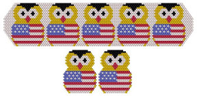 Patriotic Owls Bracelet & Earrings