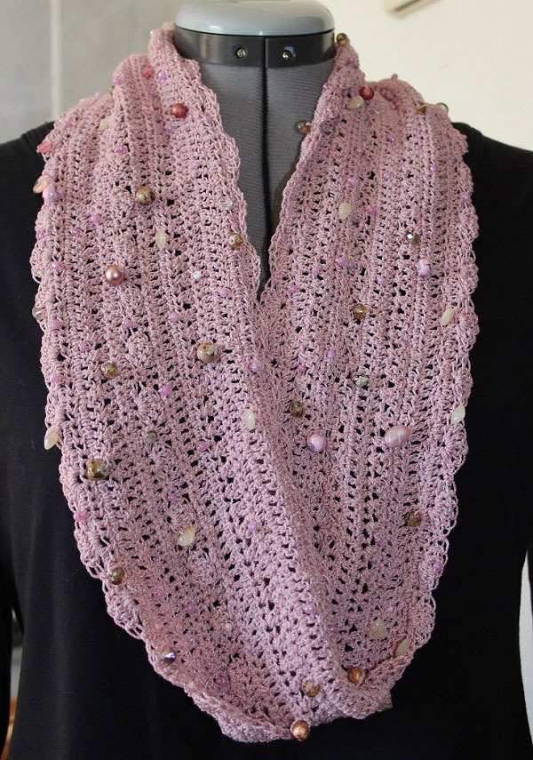 Bejeweled Cowl Scarf