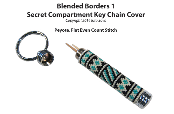 Blended Borders 1, Secret Compartment Key Chain Cover