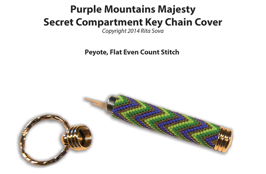 Purple Mountains Majesty, Secret Compartment Key Chain Cover