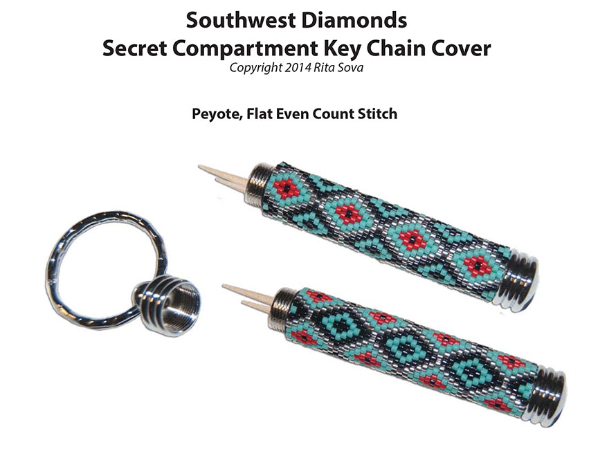 Southwest Diamonds, Secret Compartment Key Chain Cover