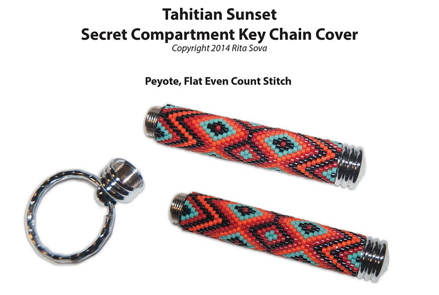Tahitian Sunset, Secret Compartment Key Chain Cover