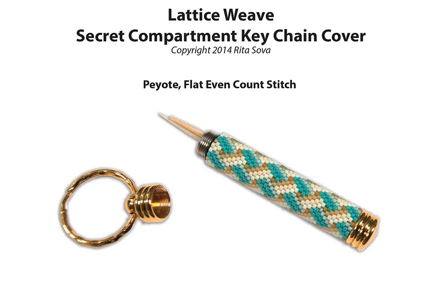 Lattice Weave, Secret Compartment Key Chain Cover