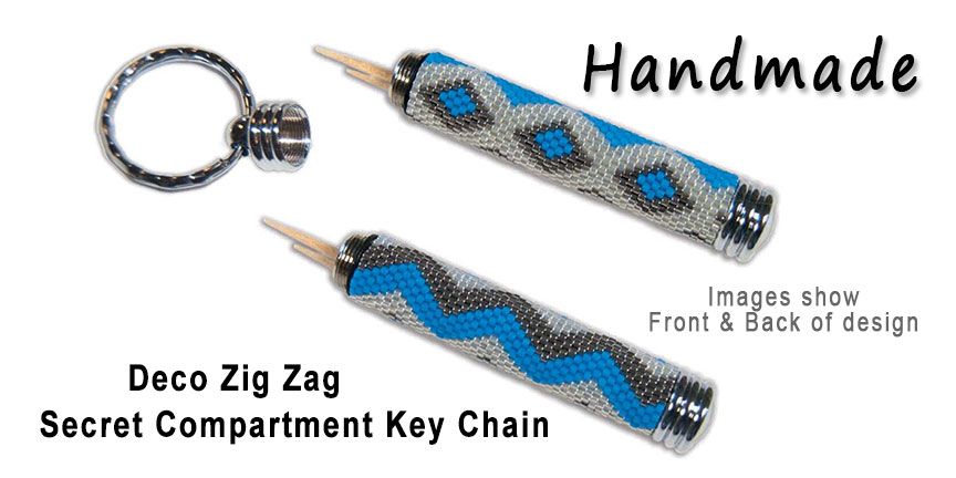 Deco Zig Zag, Secret Compartment Key Chain