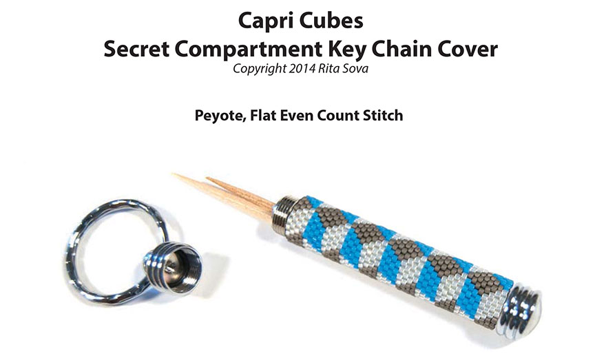 Capri Cubes, Secret Compartment Key Chain Cover