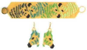 Savannah Gold Zebra Reflections Bracelet & Earrings