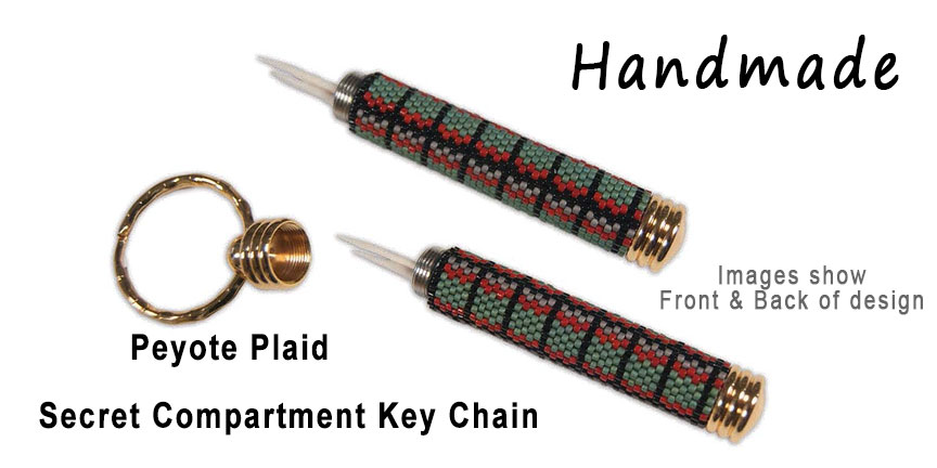 Peyote Plaid, Secret Compartment Key Chain