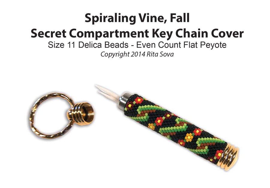 Spiraling Vine - Fall, Secret Compartment Key Chain Cover