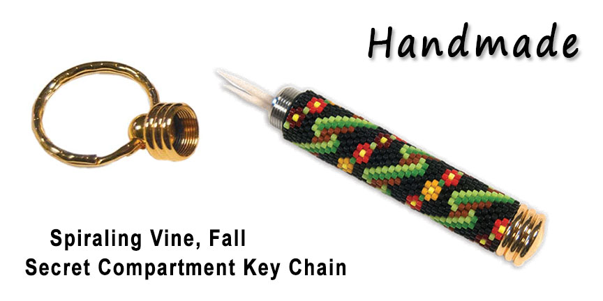 Spiraling Vine - Fall, Secret Compartment Key Chain