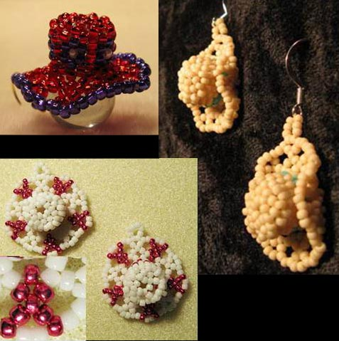 Beaded Cowboy, Ribbon or Red Hat Earring