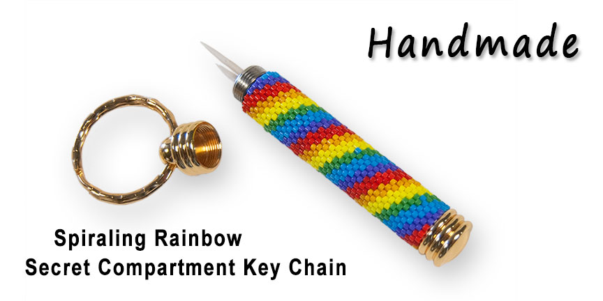 Spiraling Rainbow, Secret Compartment Key Chain
