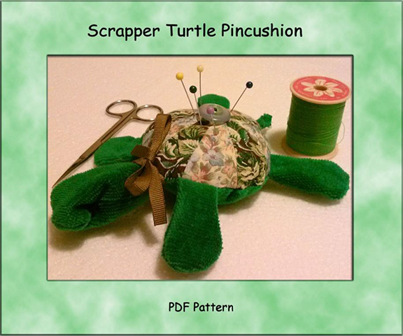 Scrapper Turtle Pincushion