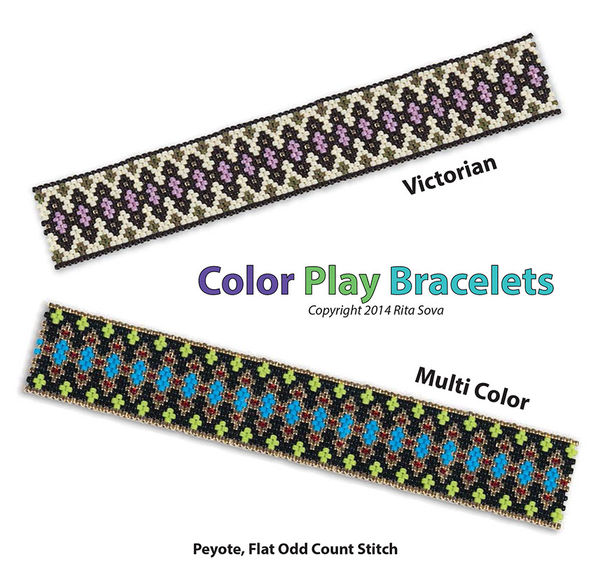 Color Play Bracelets, Victorian & Multi Color