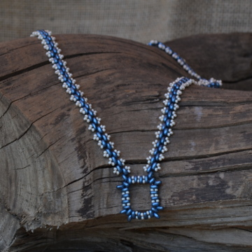 Blue Duo Necklace