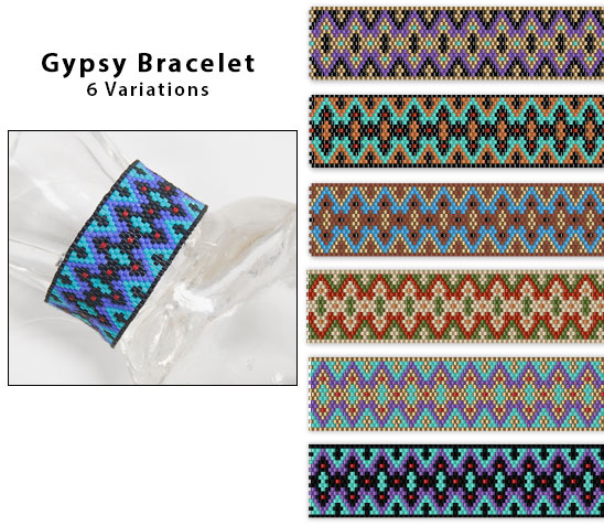 Gypsy Bracelet, 6 color variations