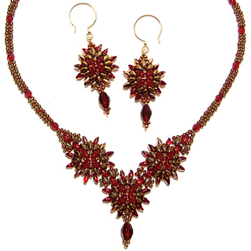Cosmos Necklace and Earrings