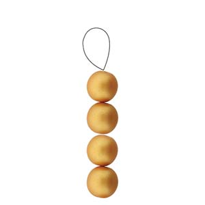 Round, 4mm, Matte Metallic Gold (40)