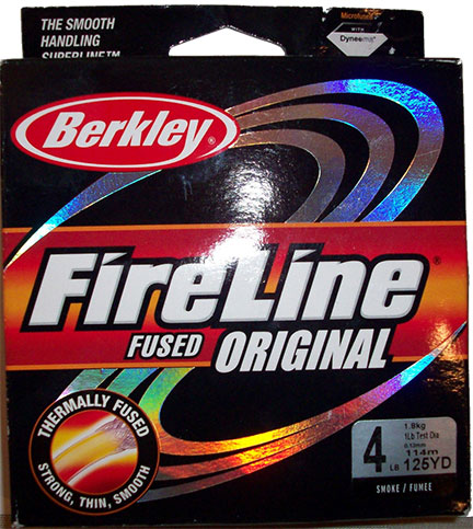 Berkley Fireline 125 YD Spool, 4lb test (.13mm), Smoke