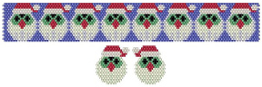 Hooting Christmas Carollers Bracelet & Earrings