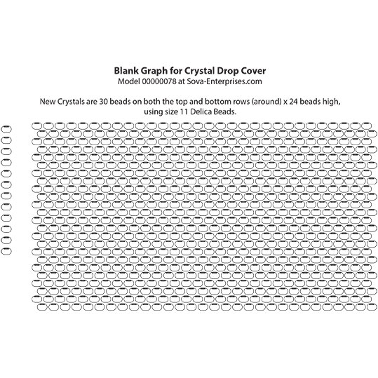 Delica Bead Graph Paper for Crystal Covers