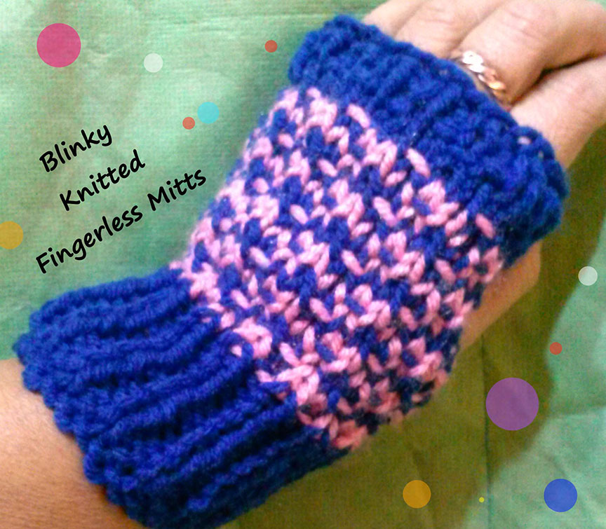 Blinky Mitts to Knit