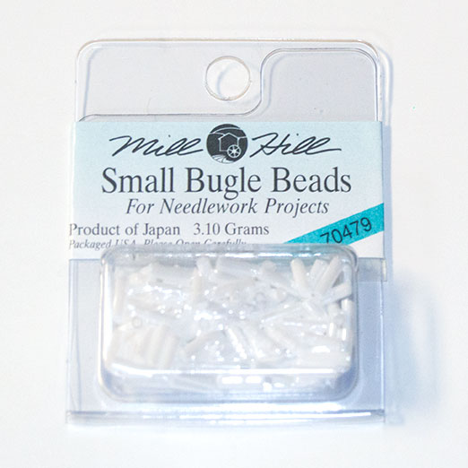Bugle Beads, 6mm, White (3.10 Grams)