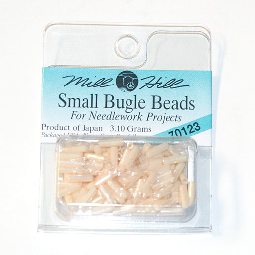 Bugle Beads, 6mm, Cream (3.10 Grams)