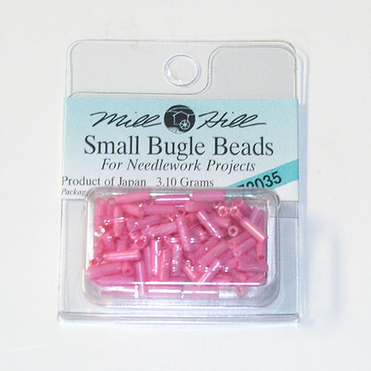 Bugle Beads, 6mm, Peppermint (3.10 Grams)