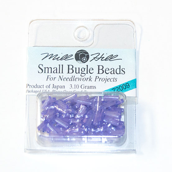 Bugle Beads, 6mm, Lilac (3.10 Grams)