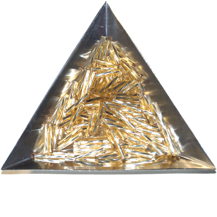 Bugle Beads Twisted, 12mm, Gold S/L (100)