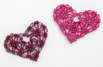 Pretty Beaded Heart - Free Pattern