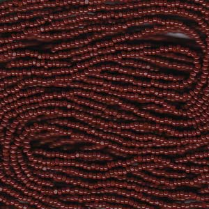 13 Charlotte seed bead, Brown, 1/2 Hank