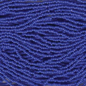 13 Charlotte seed bead, Medium Blue, 1/2 Hank