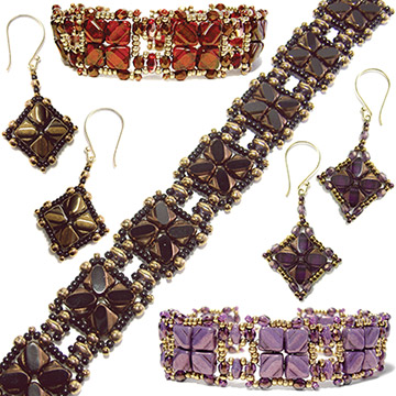 Nexus Bracelet and Earrings
