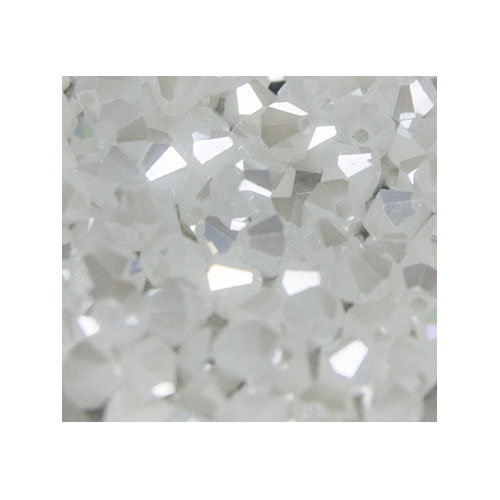 Crystal Bicone, 4mm White AB (100)