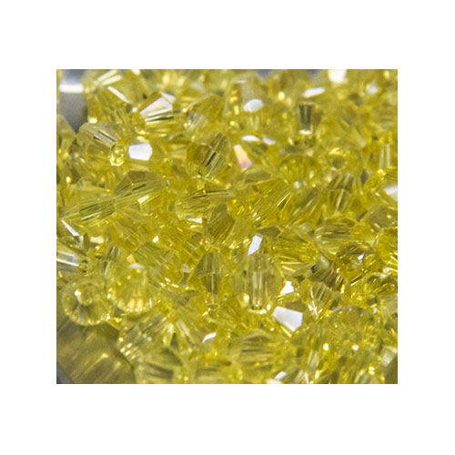 Crystal Bicone, 4mm Lemon Yellow AB (100)